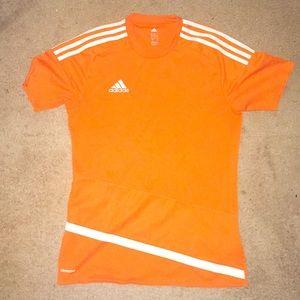Men's orange Adidas shirt
